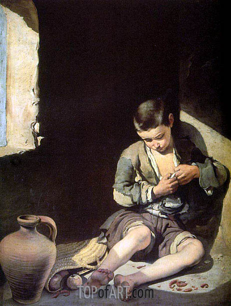The Young Beggar, c.1650   Murillo   Painting Reproduction