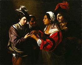 The Fortune Teller, c.1616/17 by Bartolomeo Manfredi | Painting Reproduction
