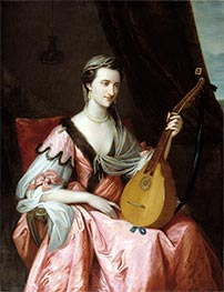 Mary Hopkinson, c.1764 by Benjamin West | Painting Reproduction