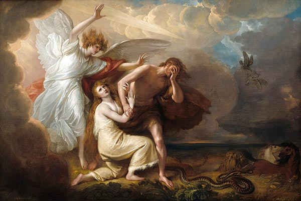 The Expulsion of Adam and Eve from Paradise, 1791 | Benjamin West | Painting Reproduction