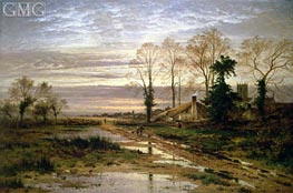 February Fill Dyke, Undated by Benjamin Williams Leader | Painting Reproduction