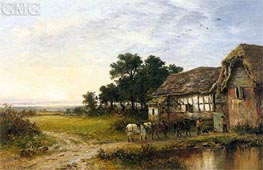 Returning Home, 1897 von Benjamin Williams Leader | Gemälde-Reproduktion