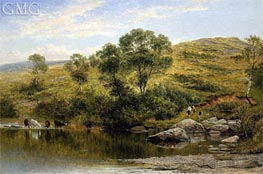 A Quiet Pool on the River Llugwy, Near Capel Curig | Benjamin Williams Leader | Gemälde Reproduktion