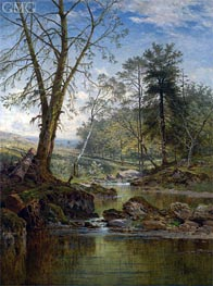 A Sunny Stream - Beardon, Dartmoor, 1883 by Benjamin Williams Leader | Painting Reproduction
