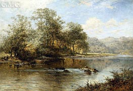 On the Llugwy, North Wales, 1896 by Benjamin Williams Leader | Painting Reproduction