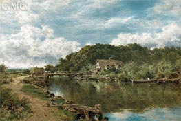 On the Stour near Flatford Mill, Suffolk, 1901 by Benjamin Williams Leader | Painting Reproduction