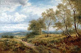 On the Welsh Border, 1874 von Benjamin Williams Leader | Gemälde-Reproduktion