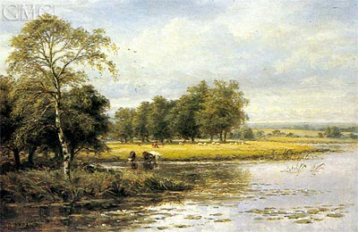 On the Thames, Undated   Benjamin Williams Leader   Painting Reproduction