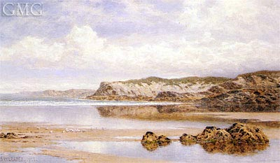 The Incoming Tide, Porth Newquay, 1912 | Benjamin Williams Leader | Gemälde Reproduktion