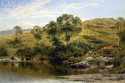 A Quiet Pool on the River Llugwy, Near Capel Curig, 1872 | Benjamin Williams Leader | Painting Reproduction