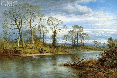 An English River in Autumn, 1877 | Benjamin Williams Leader | Gemälde Reproduktion