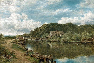 On the Stour near Flatford Mill, Suffolk, 1901 | Benjamin Williams Leader | Painting Reproduction