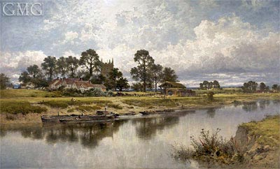 Severn Side, Sabrina's Stream at Kempsey on the River Severn, 1889 | Benjamin Williams Leader | Painting Reproduction