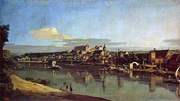 View of Purna from the Right Bank of the Elbe, c.1753 von Bernardo Bellotto | Gemälde-Reproduktion