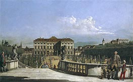 The Liechtenstein Garden Palace from the Garden Side, c.1759/60 von Bernardo Bellotto | Gemälde-Reproduktion