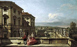 The Liechtenstein Garden Palace in Vienna Seen from the East, c.1759/60 von Bernardo Bellotto | Gemälde-Reproduktion
