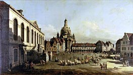 The Neuer Marktplatz in Dresden | Bernardo Bellotto | Painting Reproduction