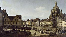 View of the New Market Place in Dresden from the Moritzstrasse | Bernardo Bellotto | Painting Reproduction