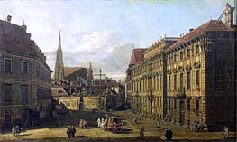 A view of the Lobkowicz Palace in Vienna, c.1760/67 von Bernardo Bellotto | Gemälde-Reproduktion