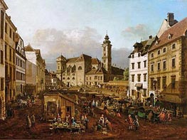 The Freyung in Vienna, View of South-East, c.1759/60 by Bernardo Bellotto | Painting Reproduction