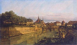 Moat of Zwinger in Dresden, c.1750/60 by Bernardo Bellotto | Painting Reproduction