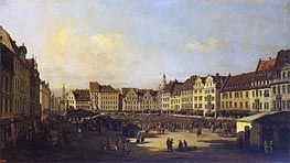 Old Market-Place in Dresden, c.1751/52 von Bernardo Bellotto | Gemälde-Reproduktion