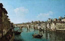The Ponte Vecchio, Florence, undated by Bernardo Bellotto | Painting Reproduction