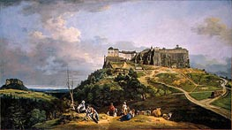 The Fortress of Konigstein, c.1756/58 by Bernardo Bellotto | Painting Reproduction
