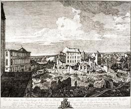 View of the Ruins of the Suburbs of Dresden, 1766 by Bernardo Bellotto   Painting Reproduction