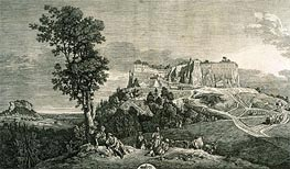 View of the Rock and of the Fortress of Koenigstein from the West Side, c.1765 by Bernardo Bellotto   Painting Reproduction