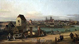 Munich from the East, 1761 by Bernardo Bellotto | Painting Reproduction