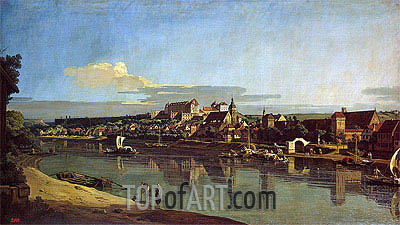 View of Purna from the Right Bank of the Elbe, c.1753 | Bernardo Bellotto | Painting Reproduction