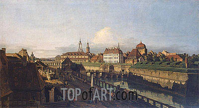 Old Fortifications of Dresden, c.1749/52 | Bernardo Bellotto | Painting Reproduction
