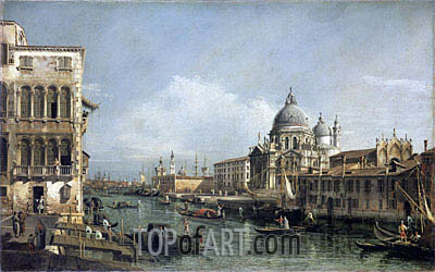 Entrance to the Grand Canal, Venice, undated   Bernardo Bellotto   Painting Reproduction