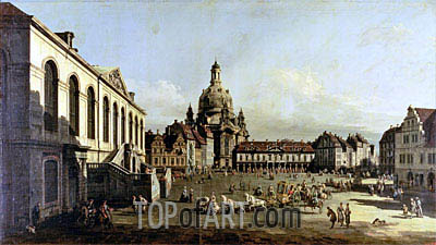 The Neuer Marktplatz in Dresden, 1747 | Bernardo Bellotto | Painting Reproduction
