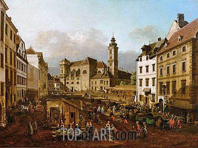 The Freyung in Vienna, View of South-East, c.1759/60 | Bernardo Bellotto | Painting Reproduction