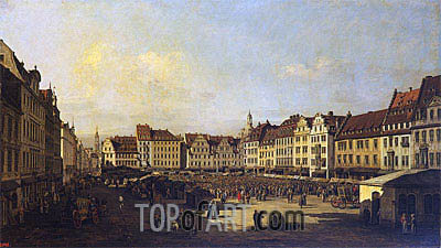 Old Market-Place in Dresden, c.1751/52   Bernardo Bellotto   Painting Reproduction