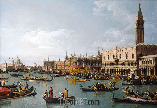 The Basin of San Marco on Ascension Day, Venice, c.1739/40 | Bernardo Bellotto | Painting Reproduction