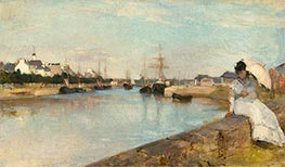 The Harbor at Lorient, 1869 by Berthe Morisot | Painting Reproduction