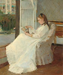 The Artist's Sister at a Window | Berthe Morisot | Painting Reproduction