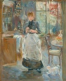 In the Dining Room, 1886 by Berthe Morisot | Painting Reproduction