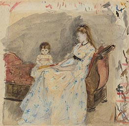 The Artist's Sister, Edma, with Her Daughter, Jeanne | Berthe Morisot | Painting Reproduction