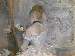 Woman at Her Toilette, c.1875/80 by Berthe Morisot | Painting Reproduction