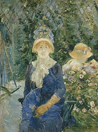 Woman in a Garden, c.1882/83 by Berthe Morisot | Painting Reproduction