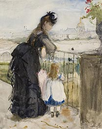 On the Balcony, c.1871/72 by Berthe Morisot | Painting Reproduction