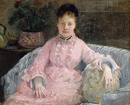 The Pink Dress, c.1870 by Berthe Morisot | Painting Reproduction