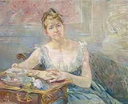 Louise Riesener, c.1888 by Berthe Morisot | Painting Reproduction