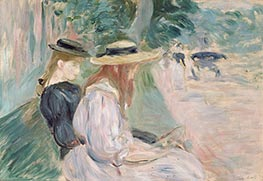 On a Bench in the Bois de Boulogne, c.1894 by Berthe Morisot | Painting Reproduction