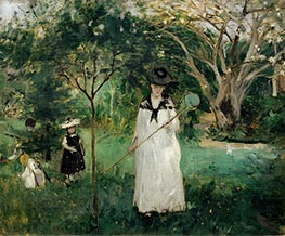Butterfly Hunt, c.1874 by Berthe Morisot | Painting Reproduction