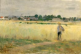 In the Wheat, c.1875 by Berthe Morisot | Painting Reproduction